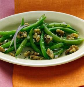 Ensalada de judías verdes con nueces