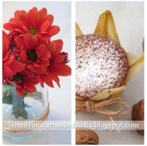 Muffins de pera y nuez