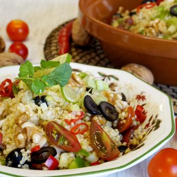 quinoa y bulgur