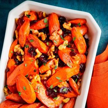 zanahorias-glaseadas-con-granada-y-nueces
