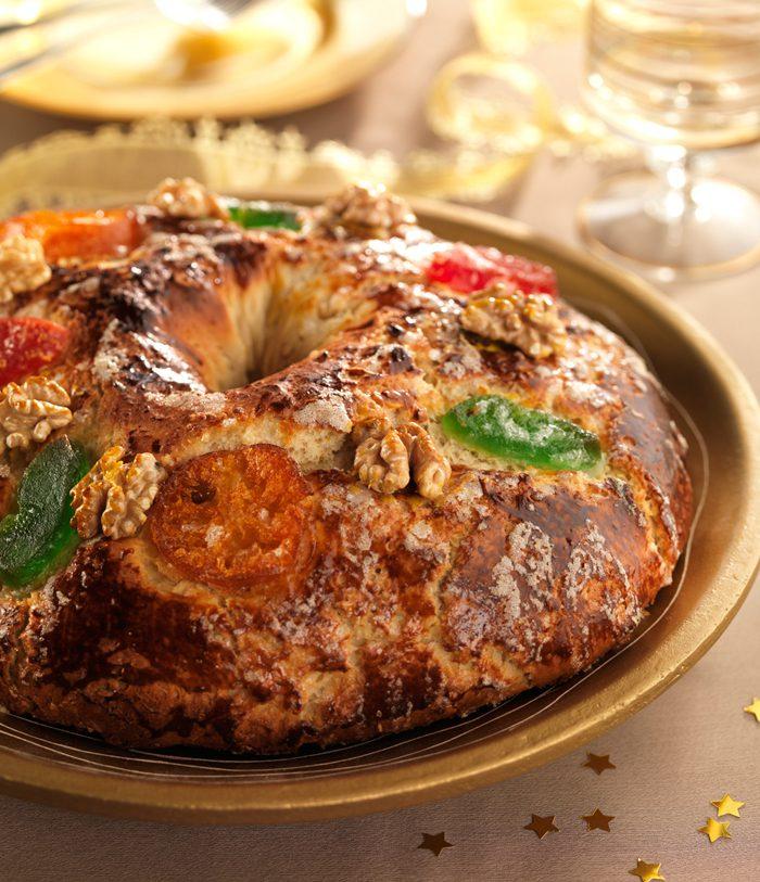 Roscón de Reyes de nueces