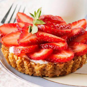 Tartaletas de fresas y nueces