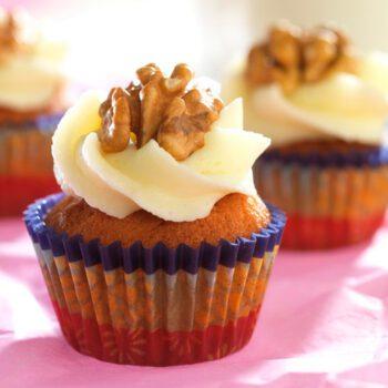 Mini cupcakes de plátano y nueces