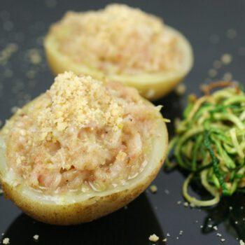 Patatas con picada de nueces
