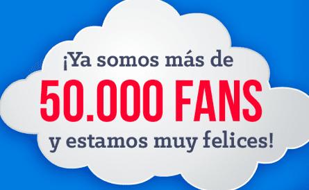 50.000 fans en facebook