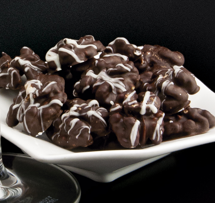 Rocas de chocolate y nueces