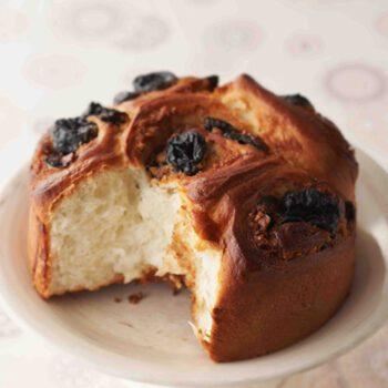Pan con ciruelas y nueces