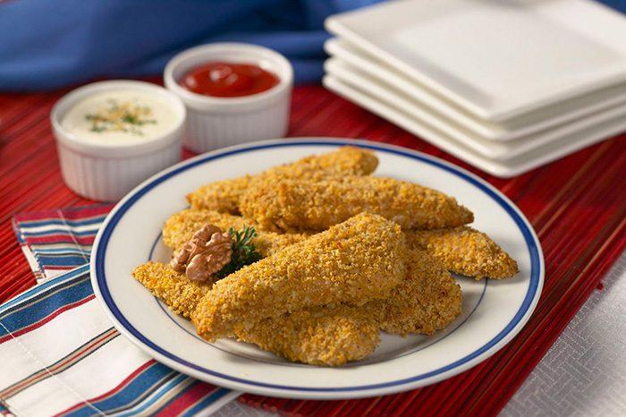 Pollo rebozado con nueces