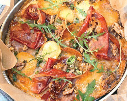 Tortilla de rúcula y nueces