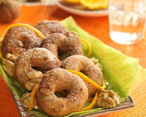 Rosquillas de naranja y nueces
