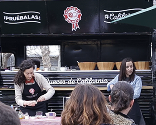 Noticia show cooking food truck nueces de california