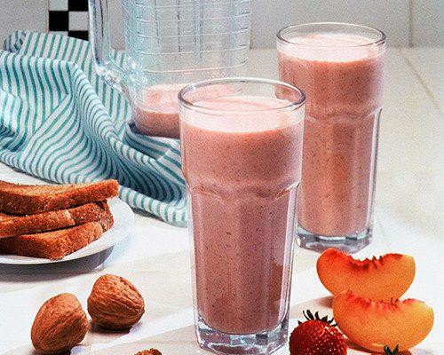 Batido energético de fresas y nueces