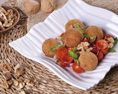 Albóndigas vegetarianas  de nueces, tofu y legumbres