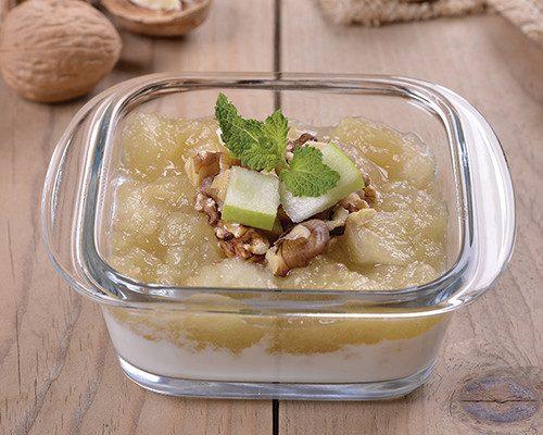 Compota de manzana con nueces