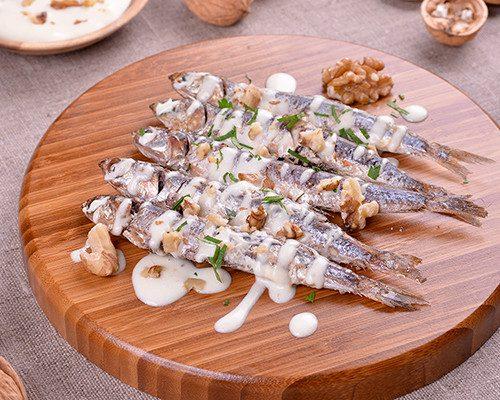 Sardinas con mayonesa de nueces