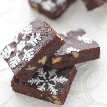 Brownie navideño de nueces