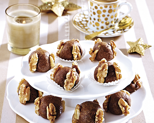 Mazapanes con chocolate y nueces