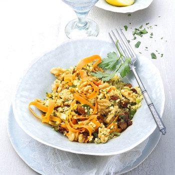 Ensalada oriental de zanahoria con nueces