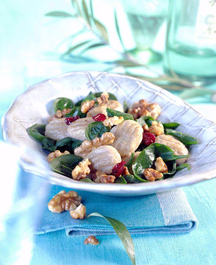 Gnocchi de nueces con espinacas
