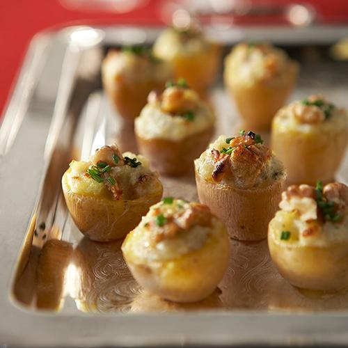 Mini patatas rellenas de nueces