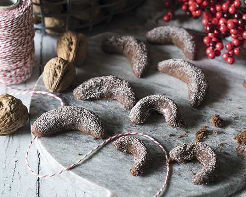 Galletitas de navidad con cacao y nueces